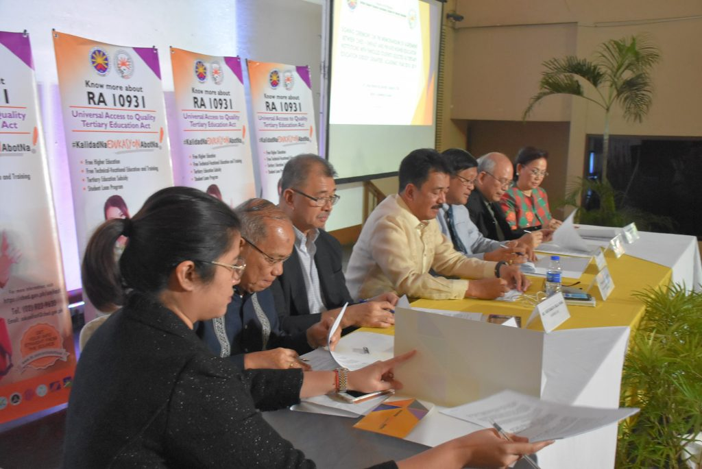 CHED and Private HEIs unite for the implementation of the Tertiary